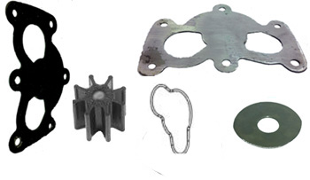 Gen 7 or 496 water pump repair kit FOR BRASS PUMPS BADLY DAMAGED BY SAND STUCK IN IMPELLER Mercruiser brass 496 gen 7 water pump, severely damaged, rebuild or repair kit to make pump like new, s.s. plates to repair with special shorter impeller, make gen 7 496 pump like new
